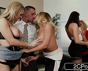 Christmas office fuckfest - chanel preston, krissy lynn, nicole aniston, tanya tate