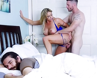 Milf eva notty receives drilled whilst her bf sleeps! (btra16039)