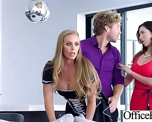 (nicole aniston) sexy office black cock sluts with large milk shakes love hardcore sex movie-20