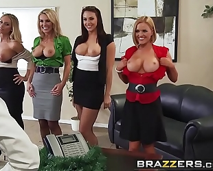 Brazzers.com - large meatballs at work - office 4-play christmas edition scene starring chanel preston krissy l