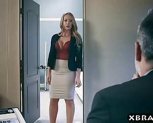 Office milf hooks on the side and the boss wishes a piece