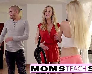 Moms educate sex - large tit mama catches daughter